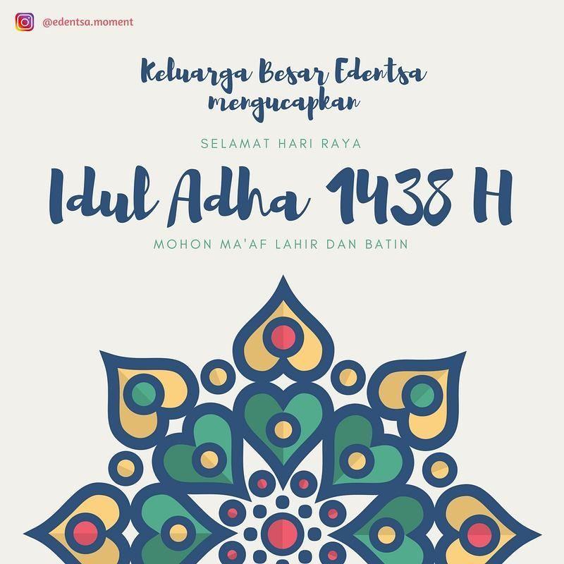 Selamat Hari Raya Idul Adha 1438 H Kartu Instagram Lebaran