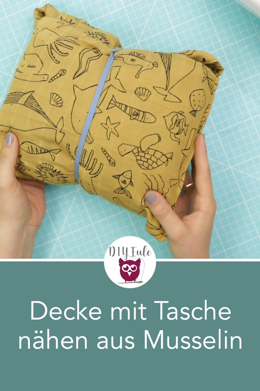 Photo of Decke mit Tasche nähen