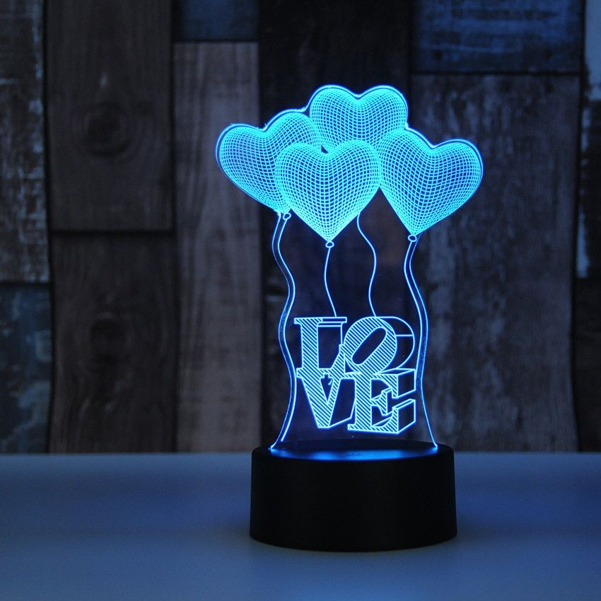 Dynamic Jellyfish Shape 3d Lamp Night Light For Chilren Illusion Atmosphere Sleep Table Lamp Touch Colors Changing Light Novelty Gift Lights & Lighting Led Lamps
