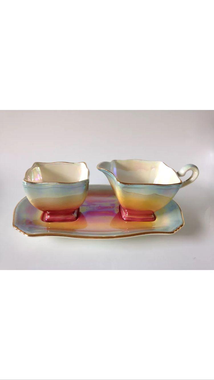 Rare, vintage, multi-color, Royal Winton lusterware