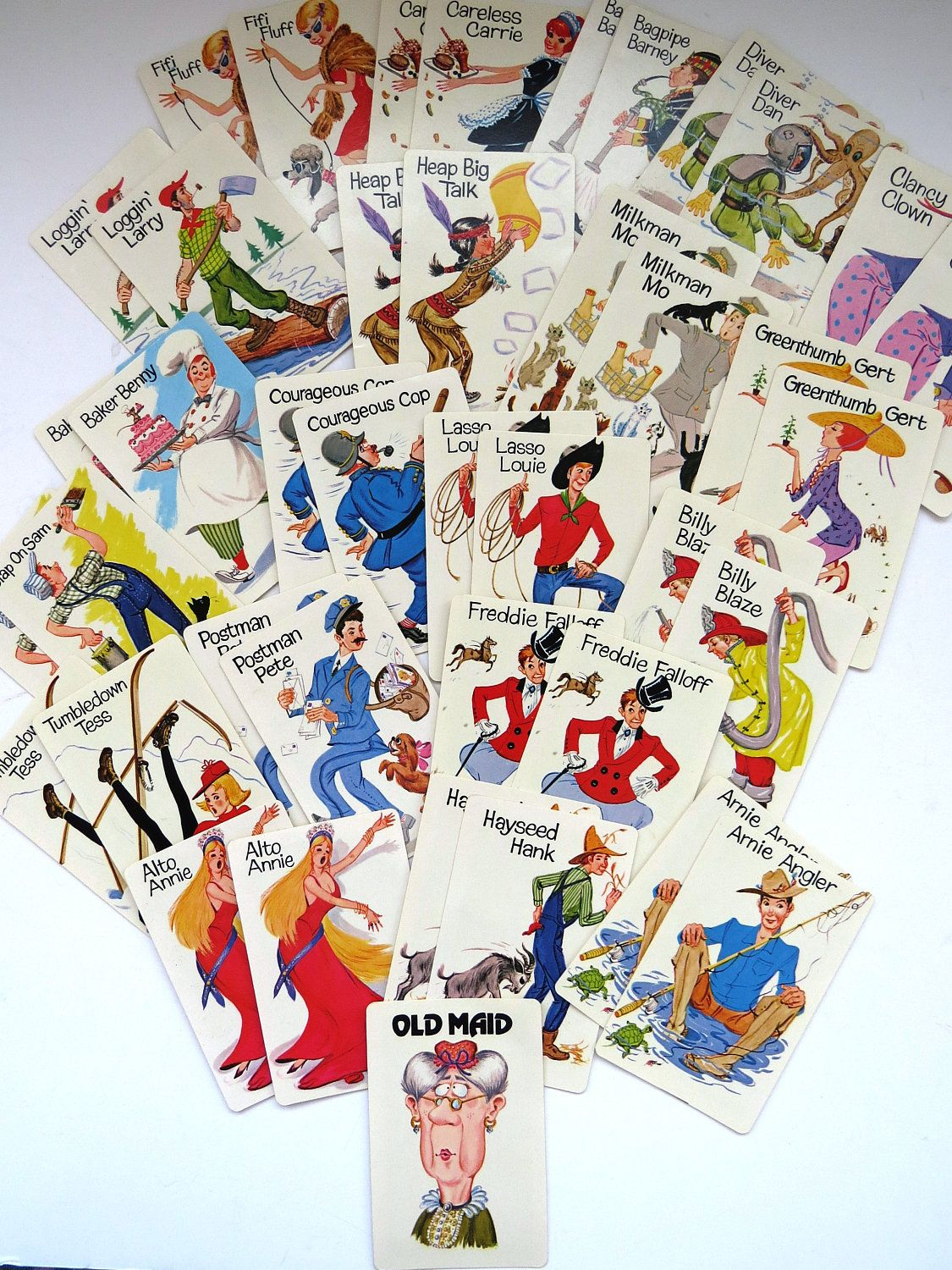 Vintage 1975 Old Maid Playing Cards Whitman 4902 Fun