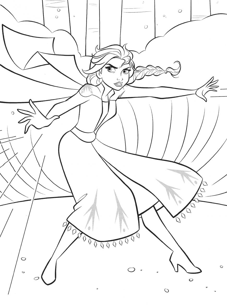 Frozen 2 Free Coloring Pages With Elsa In 2020 Elsa Coloring Pages Disney Princess Coloring Pages Hello Kitty Colouring Pages