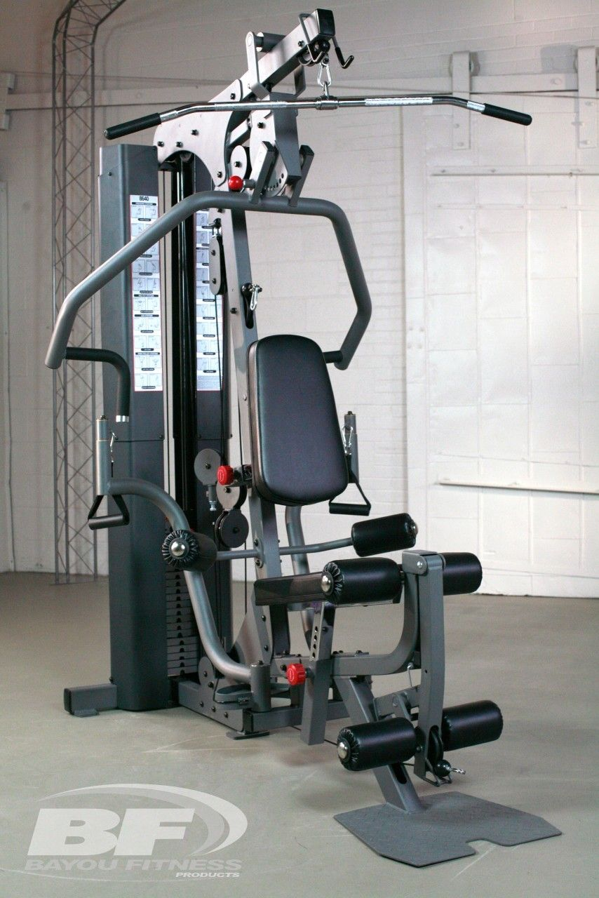 Bayou fitness home gym with pec fly attachment workoutland