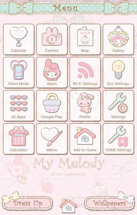My Melody Launcher Sugar Sweet For Android Apk Download My Melody Kawaii App Cute App