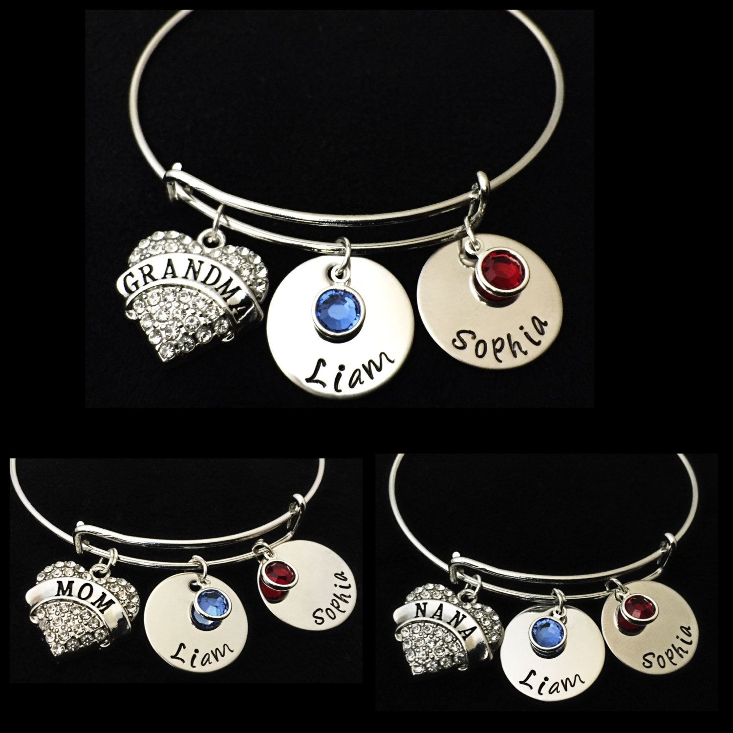 grandkids family grandkid grandma necklace birthstone my pin tribe mom