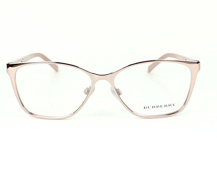 204f780e1eb3 BURBERRY Eyeglasses BE 1255 1188 Pink Gold 53MM | Glasses I want in ...