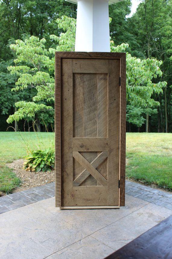 Rustic Pre Hung Closet Door Reclaimed Barn Wood 3234 By Keeriah