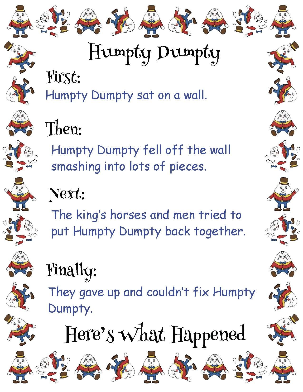Humpty Dumpty Amp Itsy Bitsy Spider Fun In