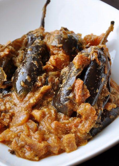 Dahi wale Baingan (Brinjals cooked in a Tomato Yogurt Sauce) - Honey, Whats Cooking