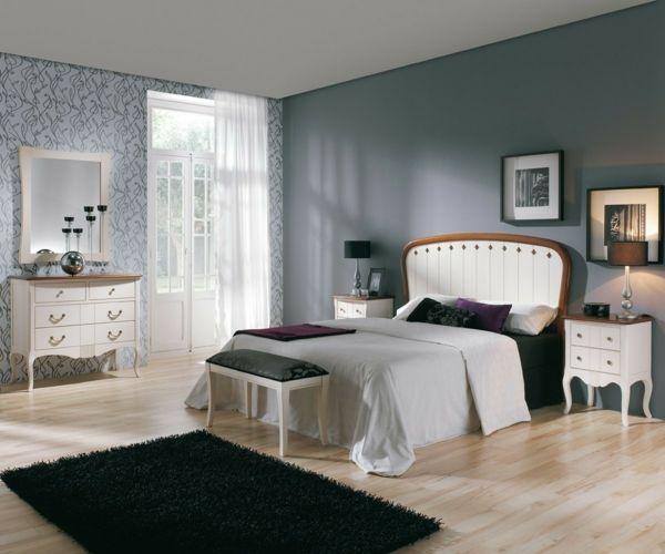 Moderne Wandfarben Grau Weiße Kommoden Antik