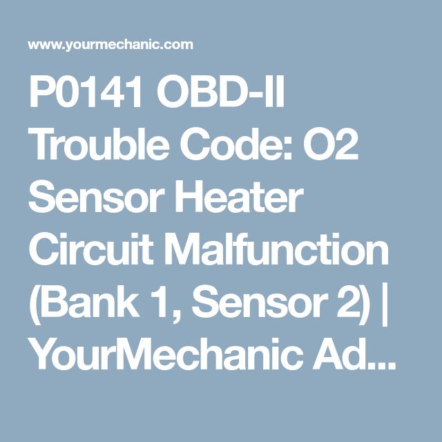 o2 heater circuit bank1 sensor2