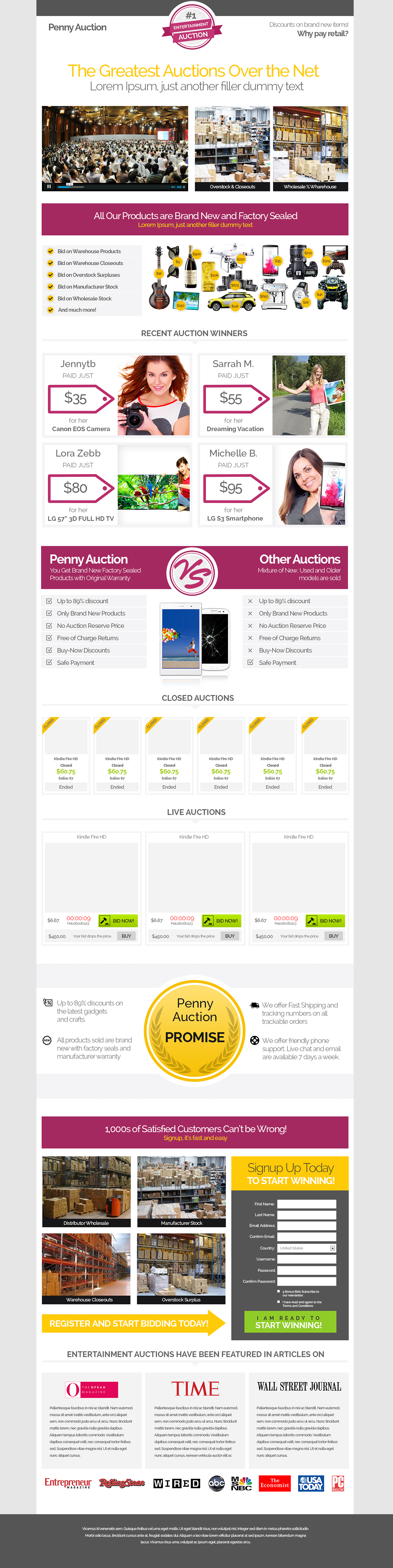 Responsive Bootstrap Auction Website Template On Behance Website Template Templates Auction