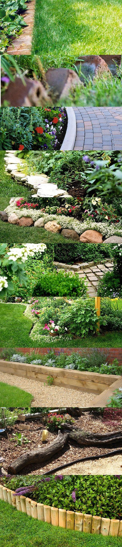 Garden bed borders edging ideas for vegetable and flower gardens
