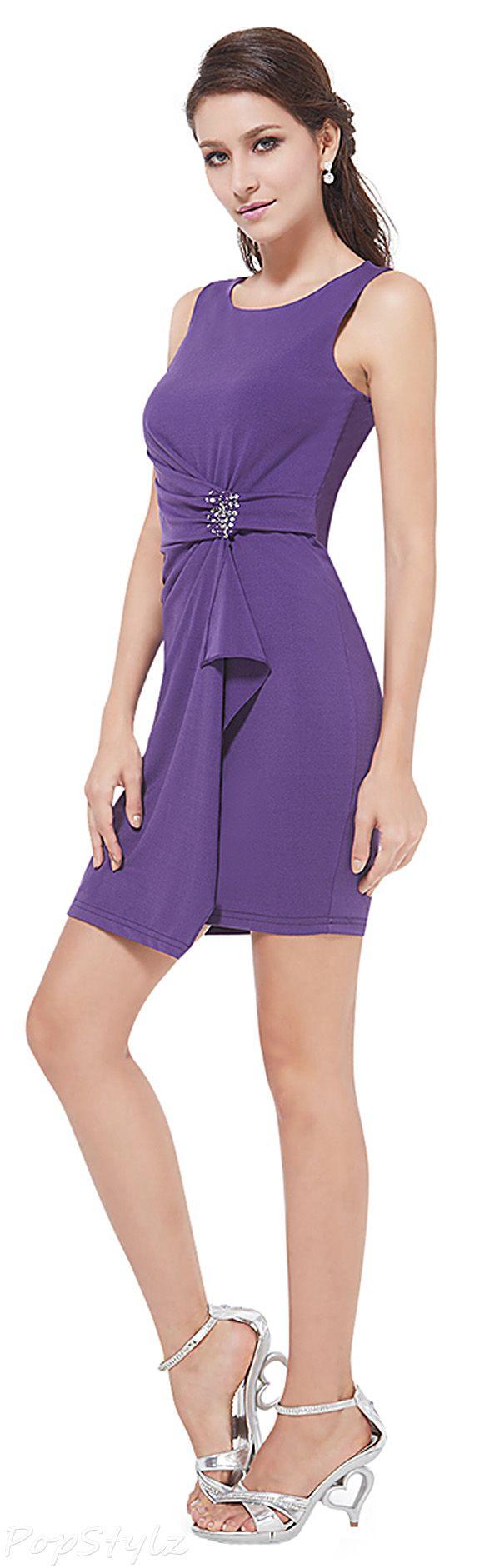 Ever Pretty Classy Sleeveless Purple Cocktail Dress | vestidos ...