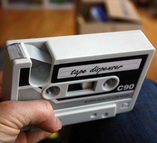 Cassette Tape Dispenser - photo via Art & Design on fb