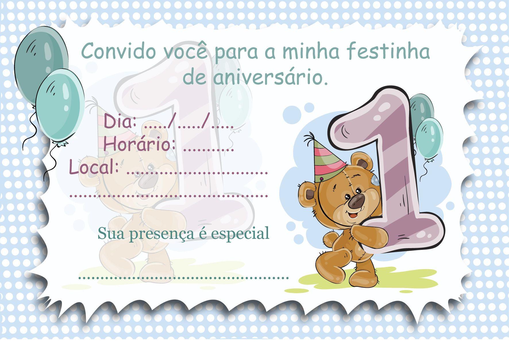 Surpresa E Arte Convite De Aniversario Convite Aniversario Infantil