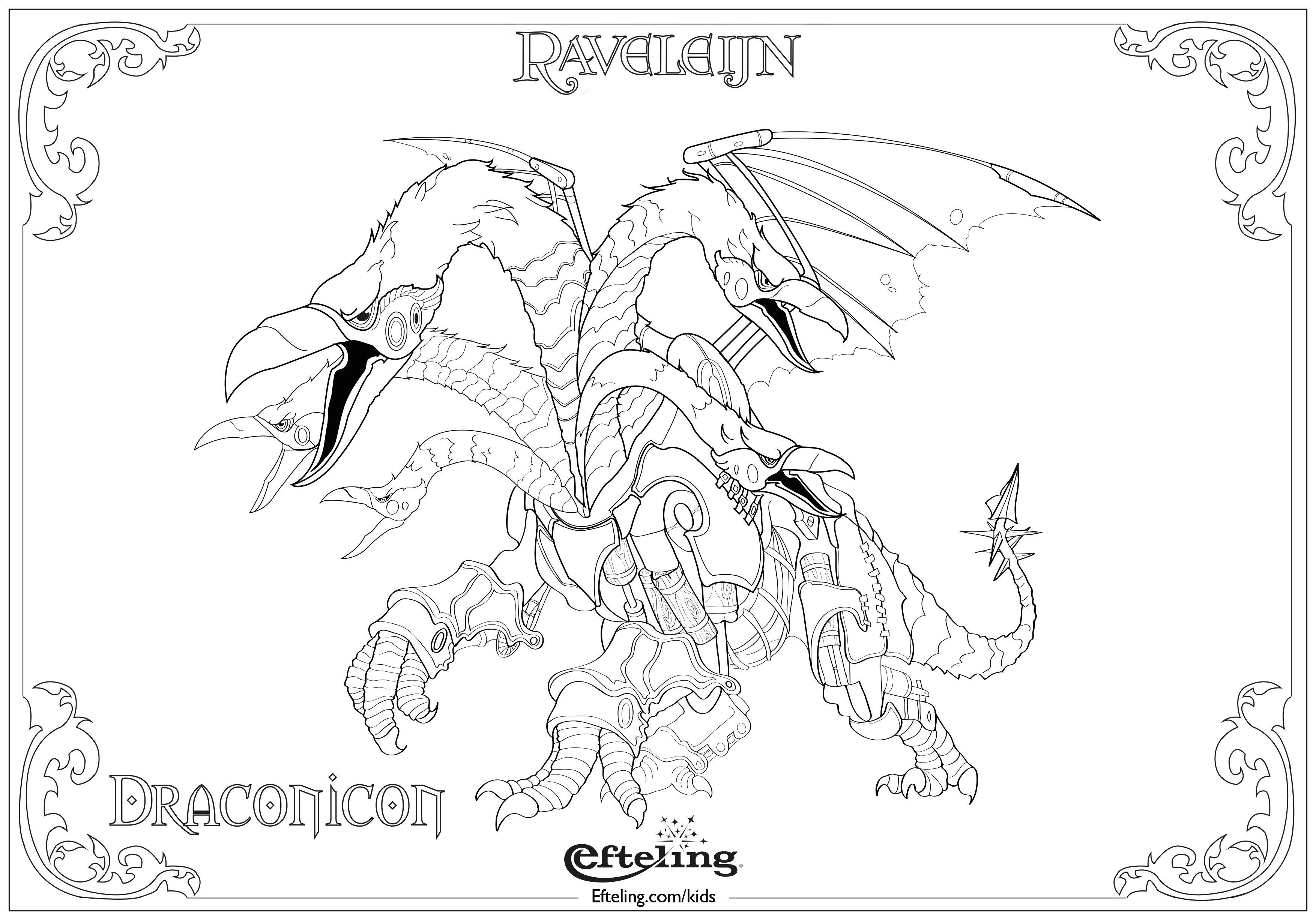 draconicon raveleijn efteling kleurplaat