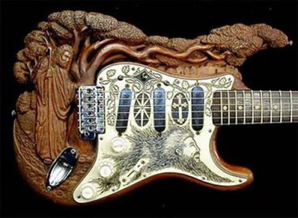 Verruckte Gitarren Gitarre Coole Gitarre Gitarrenkunst