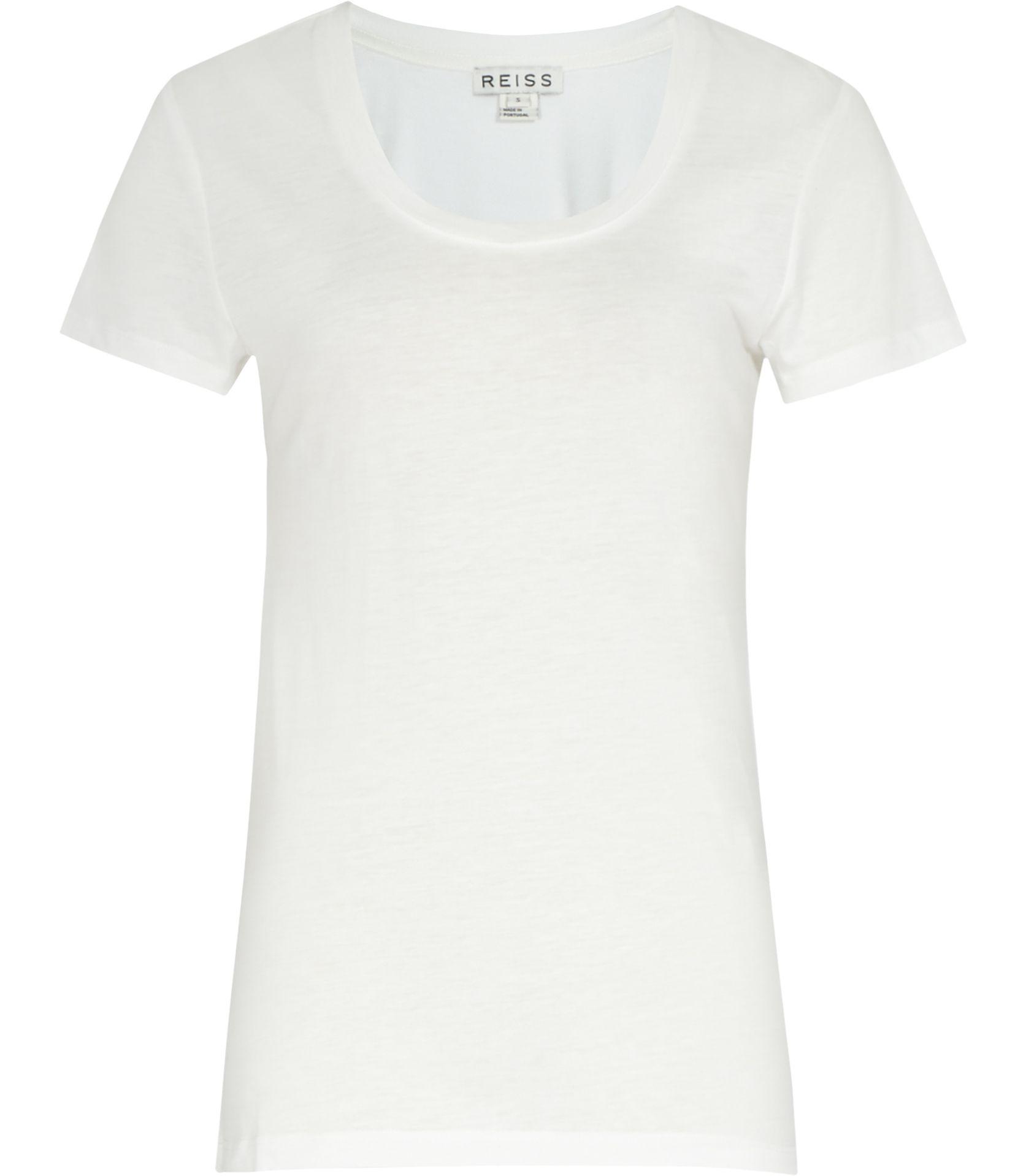 Black t shirt reiss - Reiss London Daina Womens Off White Scoop Neck T Shirt Also