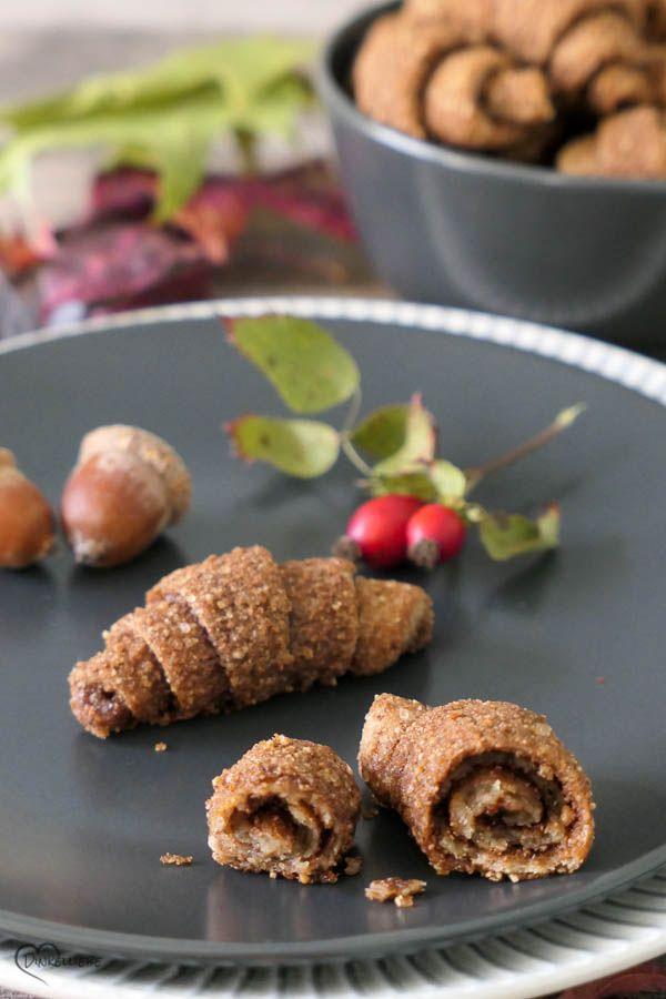 Unverschämt leckere Mini-Nusshörnchen mit gerösteten Haselnüssen #herbstgerichte