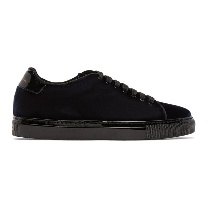 PS by Paul Smith Navy Velvet Basso Sneakers x6xJyR