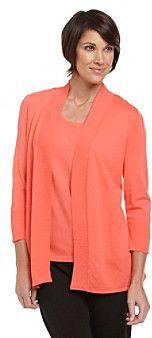 Laura Ashley Ribbed Openfront Cardigan on shopstyle.com.au