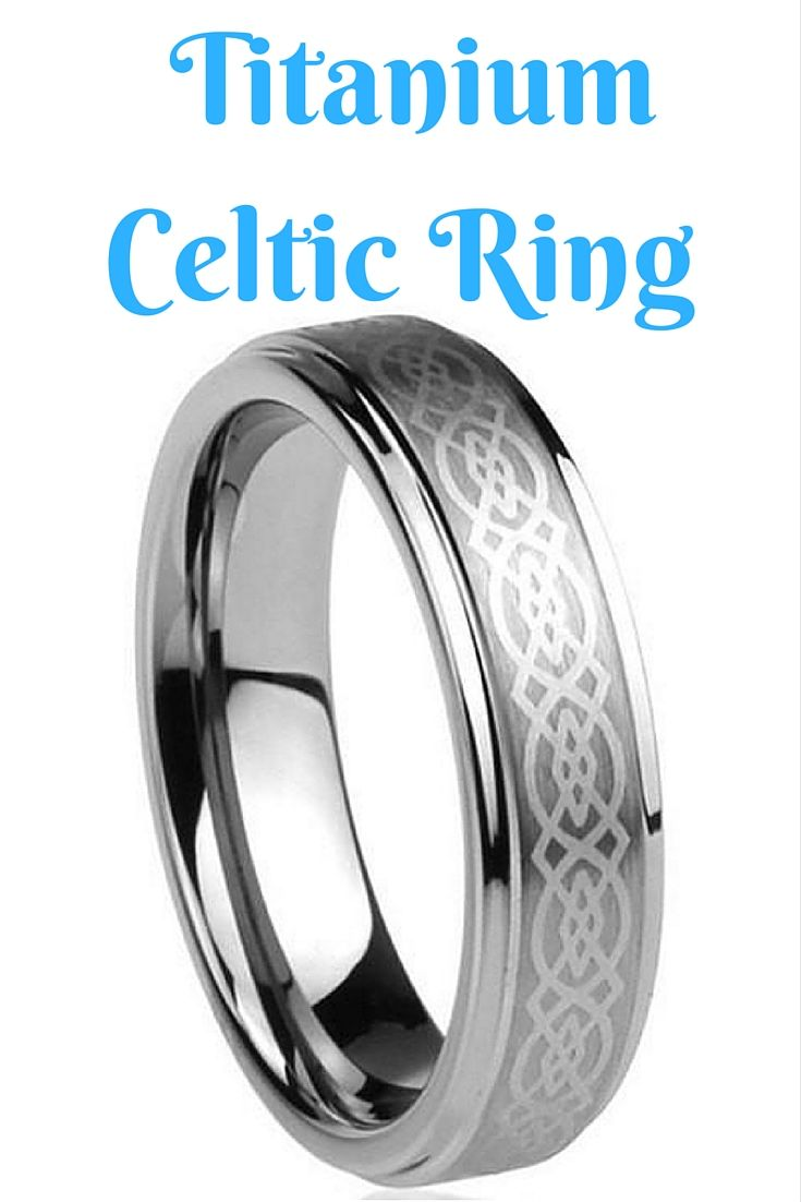 6mm Anium Celtic Wedding Band Ring With Polished Edges This Wonderful Has A Knot Design