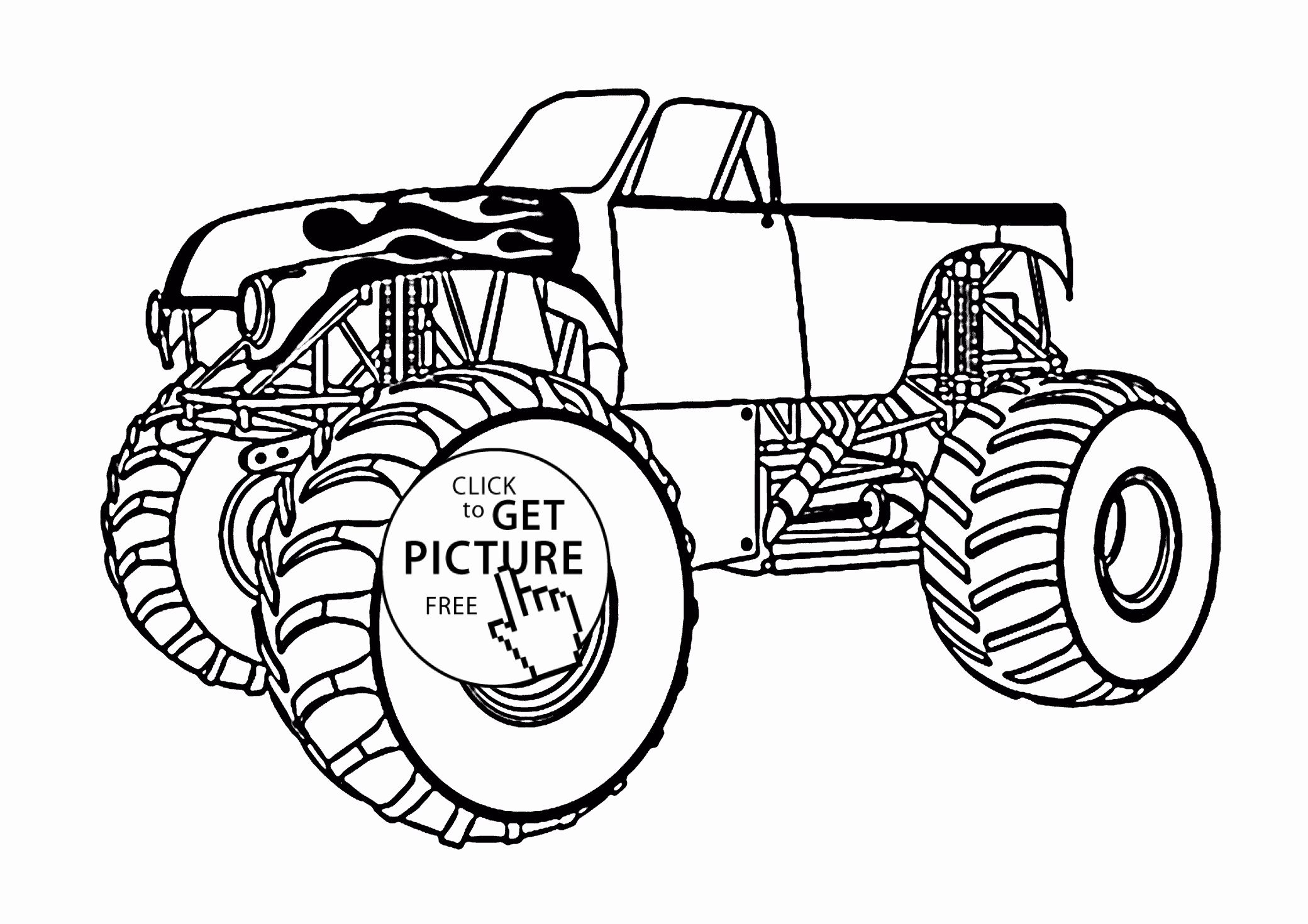 Monster Truck Color Page Fresh Monster Truck With An Open