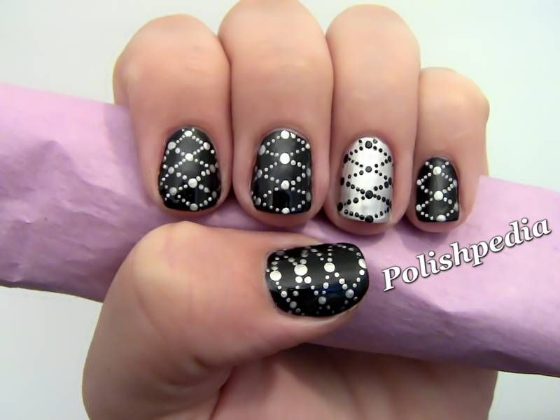 358032-nail-designs-black-and-silver-nail-design. - 358032-nail-designs-black-and-silver-nail-design.jpg (800×600
