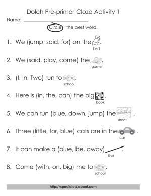 12 Worksheets for Dolch High Frequency Words | Free printable ...