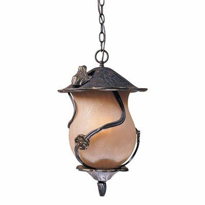 Froggie Outdoor 4 Light Large Pendant With A Beautiful Lily Pad Themed Frame Golden Frogs And