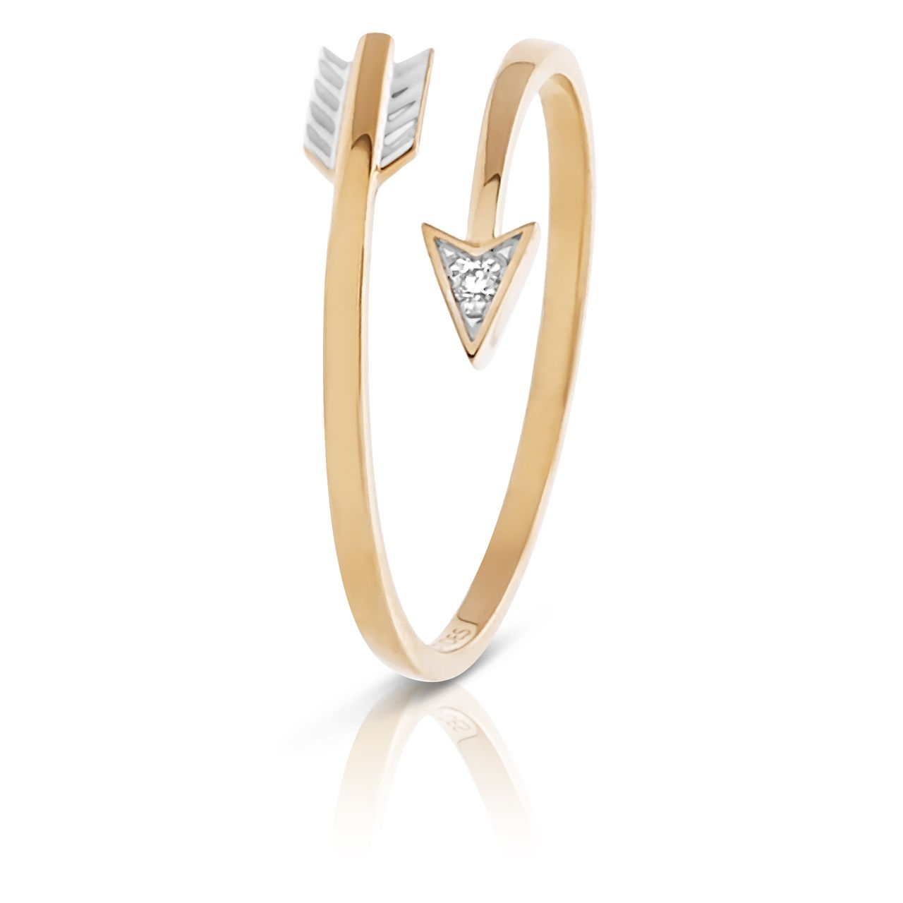 Claire Aristides Fine Jewels - Arrow Diamond Ring set in Yellow Gold, AUD$265.00 (http://www.aristidesfinejewels.com/arrow-diamond-ring-set-in-yellow-gold/)