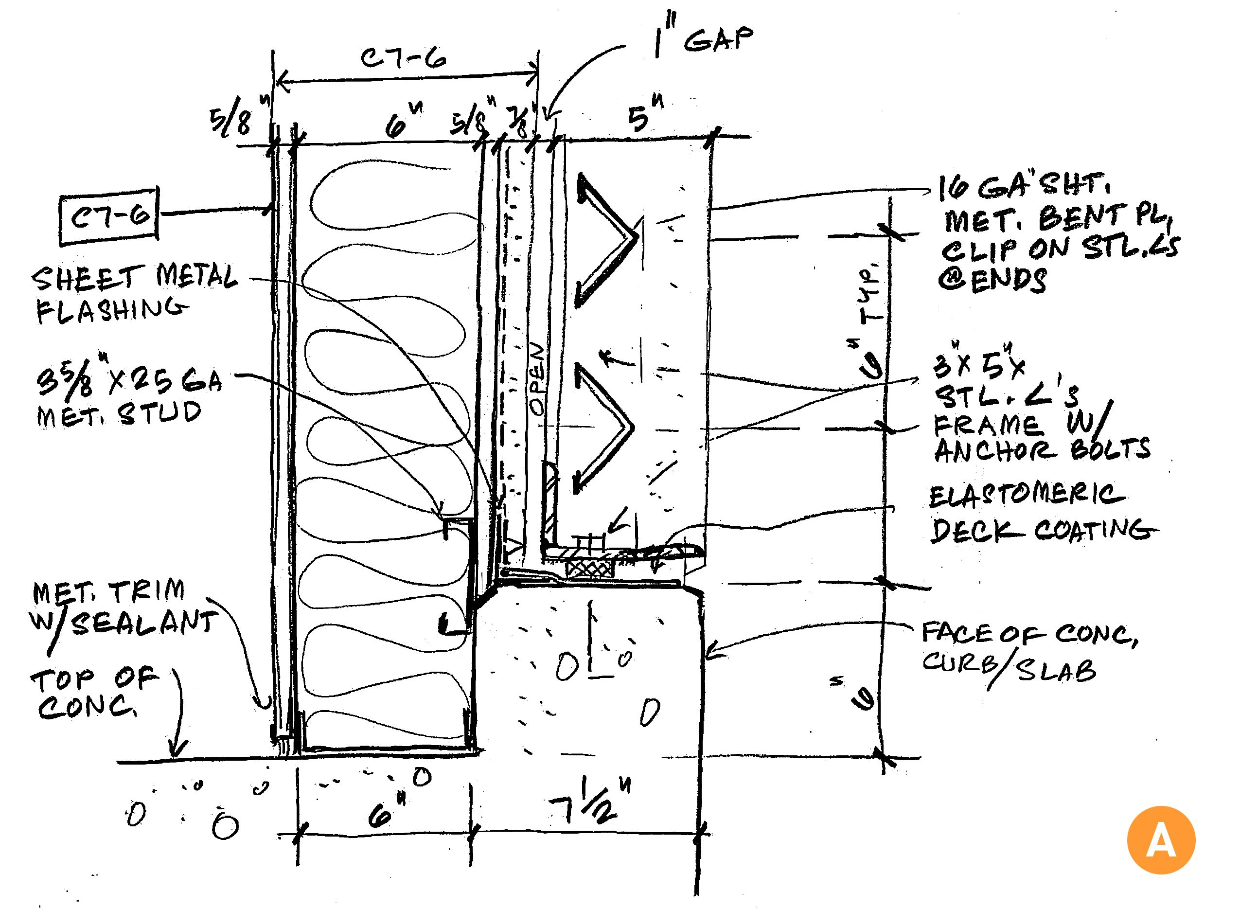 Construction Detail Sketch