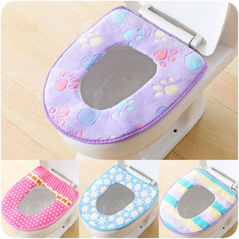 Winter Toilet Seat Warmer Plush + PVC Thicken Carpet Toilet Seat ...
