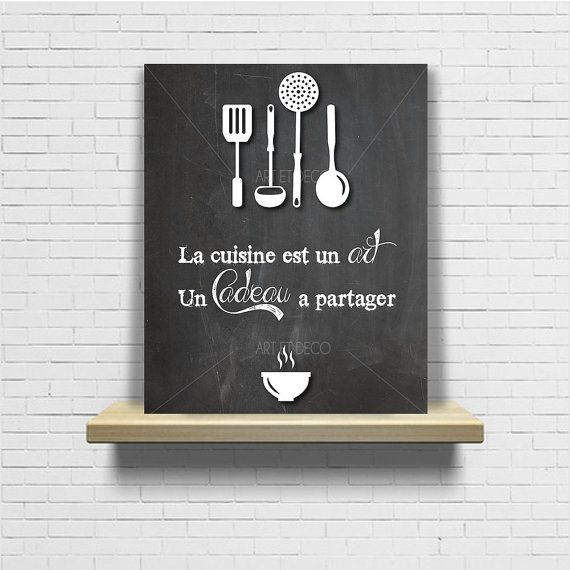 tableau citation cuisine ardoise chalkboard original par artetdeco citations pinterest. Black Bedroom Furniture Sets. Home Design Ideas