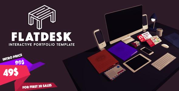 Introduction FlatDesk is an innovative portfolio template