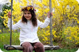 children with flowers - Google Search