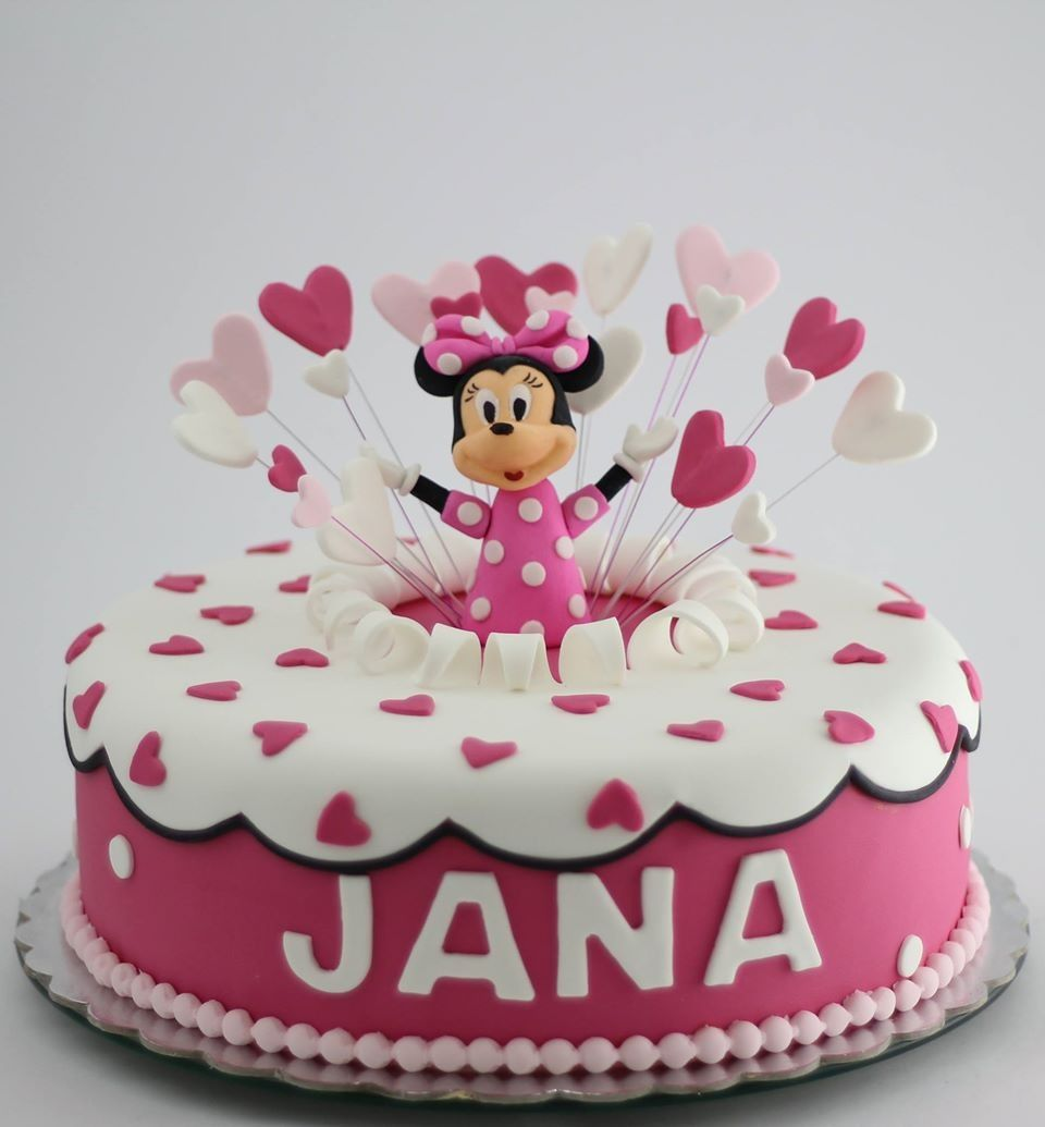 minie mouse cake by bioled first birthday party. Black Bedroom Furniture Sets. Home Design Ideas