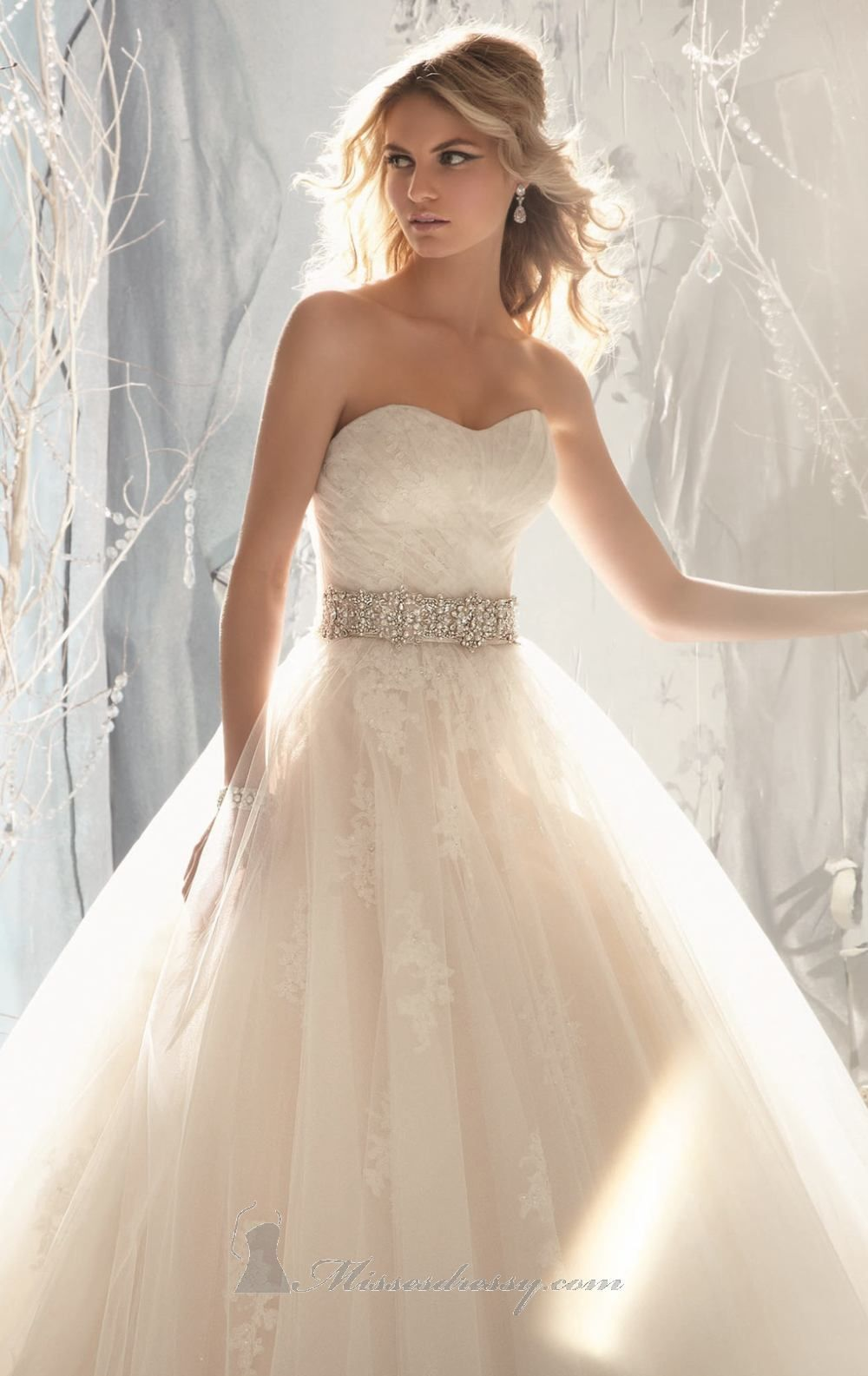Mori Lee 1959 Dress - This full skirt wedding gown is made of ...