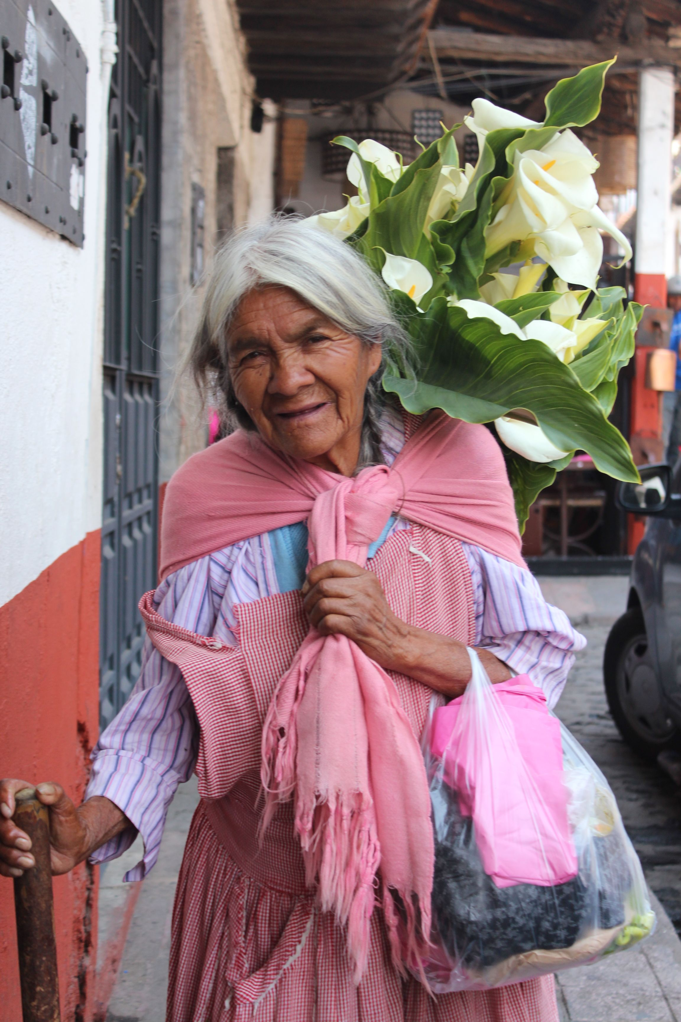 De Liliana Ibarra ... Señora vendiendo alcatraces en valle de bravo ...