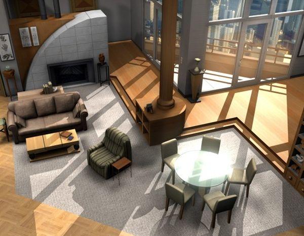 Frasier | Home Interior | Pinterest | TVs and Apartments on modern family house design, ghost whisperer house design, greek house design, family guy house design,