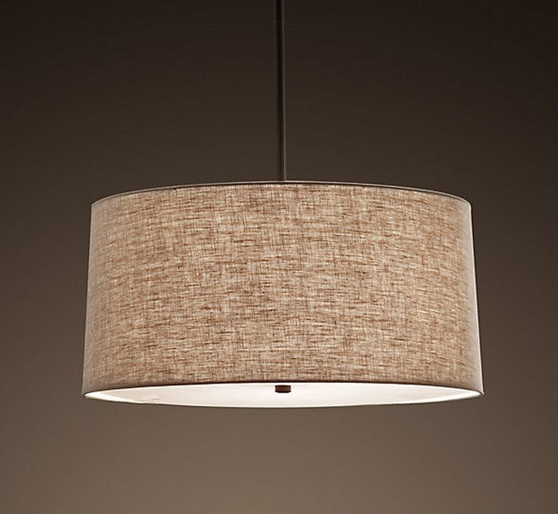 Over The Dining Table: 5 Drum Shade Pendant Lights For A Soft, Diffused  Glow U2014 Product Roundup