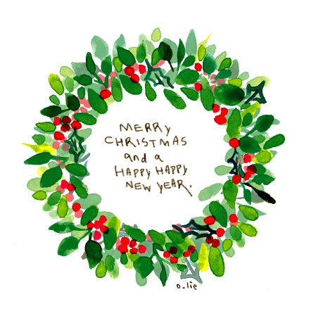 44+ Illustrated christmas wreath ideas in 2021