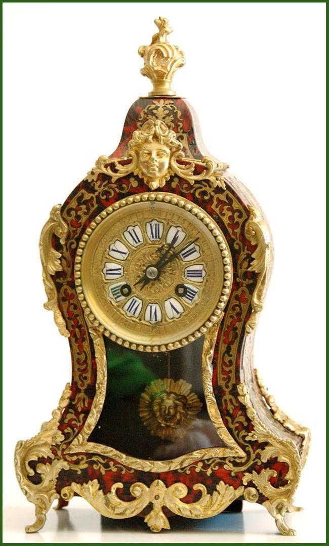 Reloj de antiguo reloj franc s boulle s xix time - Relojes antiguos de mesa ...