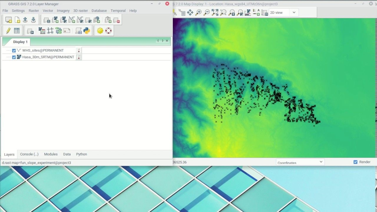 GRASS 7 2 Raster Interpolation and basic map managment | Geospatial