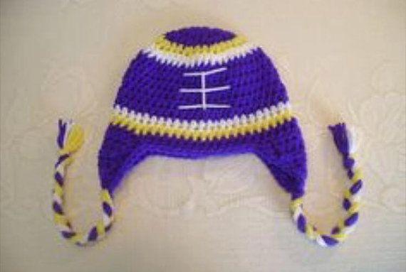Crocheted Minnesota Vikings hat beanie by CrochetedbyKristina ...