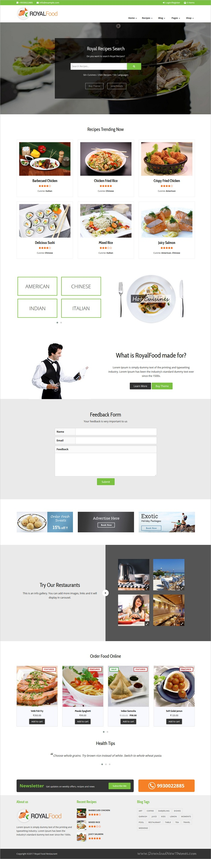 Royal food restaurant and recipe wordpress theme wordpress royal food restaurant and recipe wordpress theme forumfinder