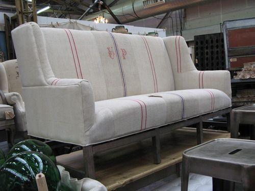Grain Sack Upholstery Love Furniture Spiration