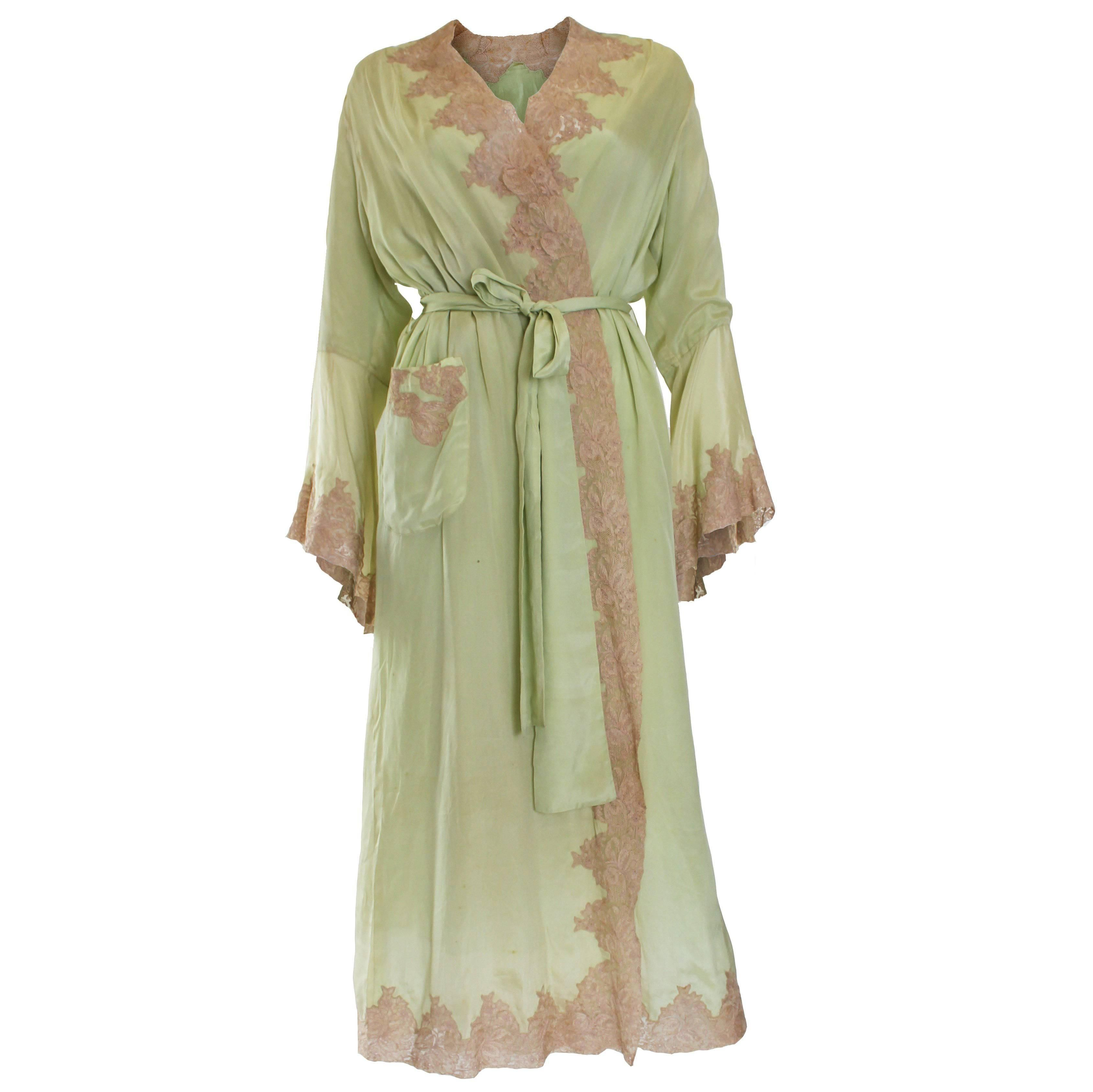 1950s Fine Silk Dressing Gown Gowns Dresses Silk Dressing Gown Clothes Design