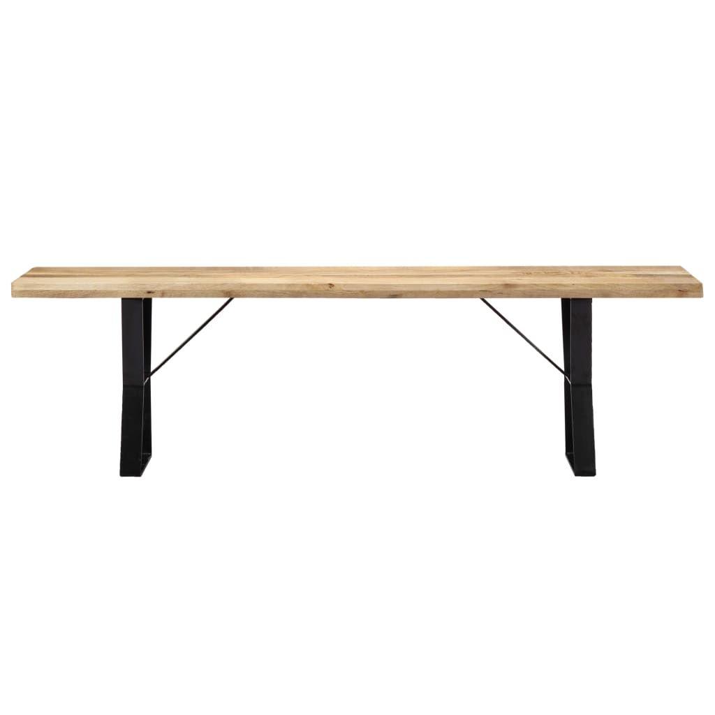 vidaXL Bench 160 cm Solid Mango Wood